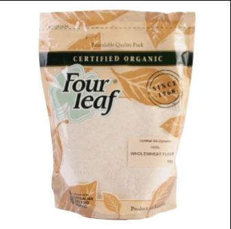 Four Leaf Milling Organic 100% Wholewheat Flour 1kg