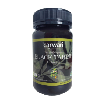Carwari Organic Tahini Black Unhulled 375gm