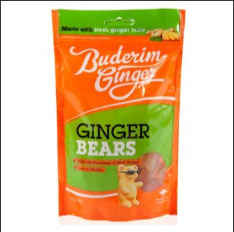 Buderim Ginger Ginger Bears 175gm