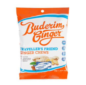 Buderim Ginger Travellers Friends 50gm