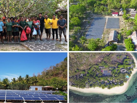 RPRE commissions solar PV system at Gangga Island Resort & Spa