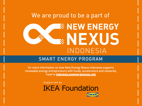 We are proud to be a part of New Energy Nexus Indonesia's Smart Energy Acceleration Program!