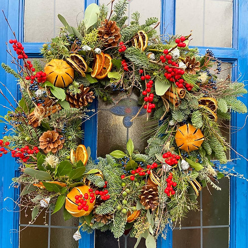 Large Traditional Christmas Wreath