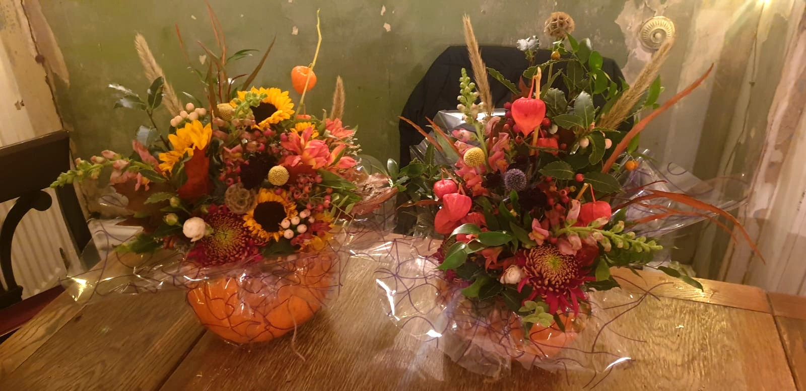 Pumpkins and Flowers at The Mixer