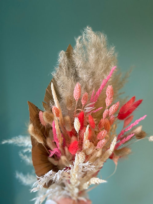 Dried pink bunch