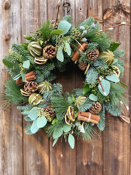 Lime & Euclyptus Christmas Wreath