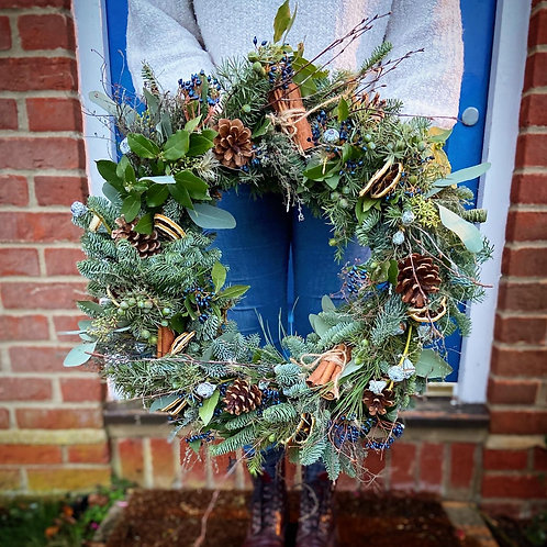 Large Natural Christmas Wreath