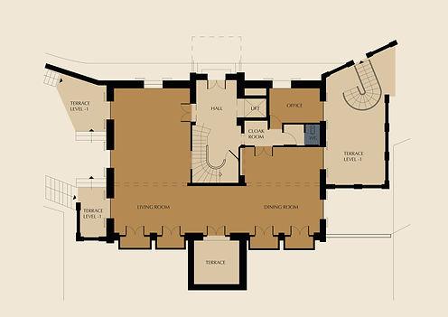 2D Floor Plan Color