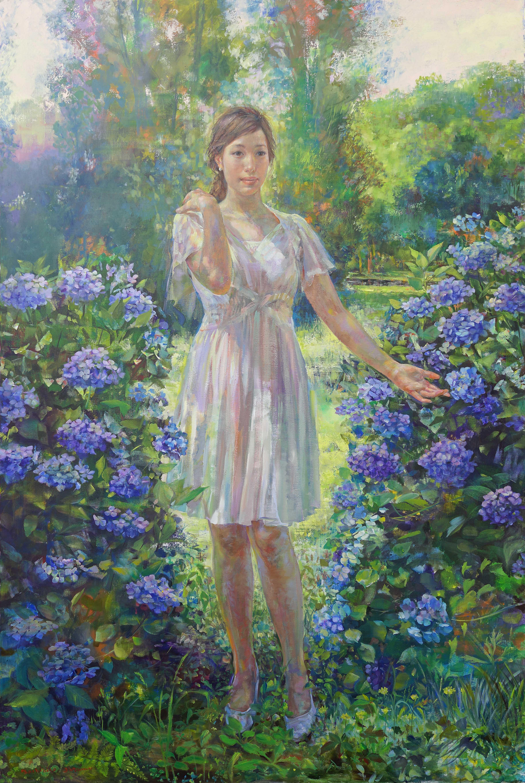 紫陽花の咲く頃●F120