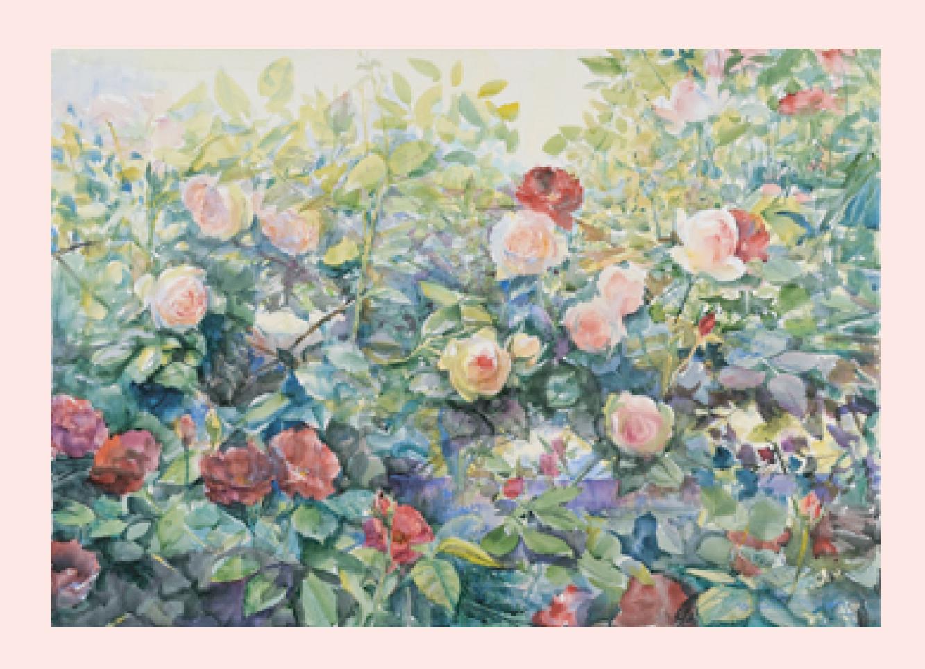薔薇に寄せる風