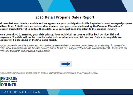 It's Time to Complete the Annual Retail Propane Sales Survey