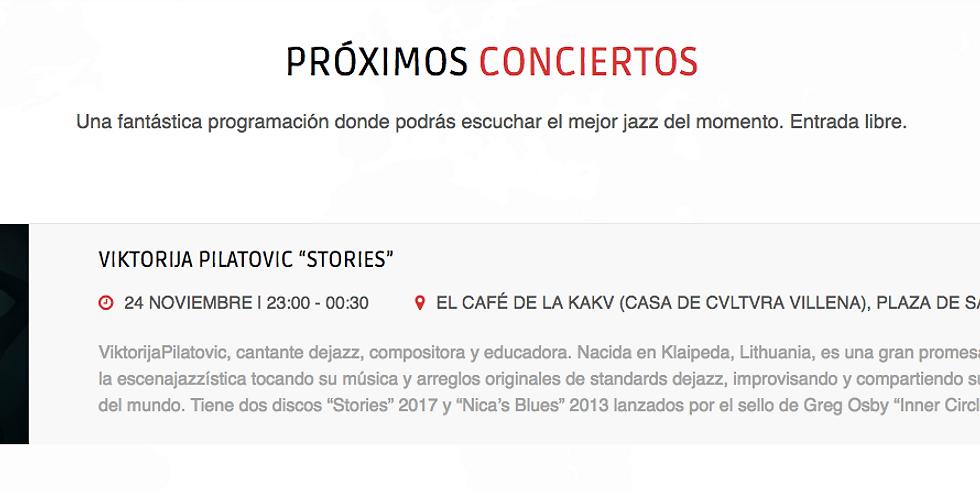 Viktorija Pilatovic en Club de Jazz Mil Pesetas