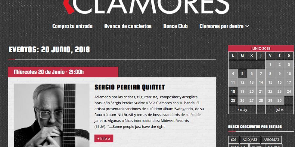 Sala Clamores Madrid Sergio Pereira