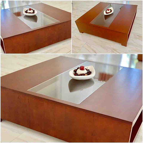 Coffee Table  Glass Middle