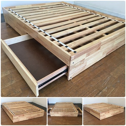 """2 Drawer PLATFORM Bed - Double - 75"""" x 48"""""""