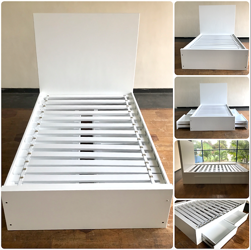 """PEARL - 4 Drawer Bed - 75"""" x 48"""""""