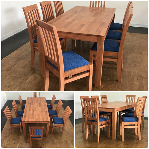 STANDARD Dining Set Table & 8 Chairs