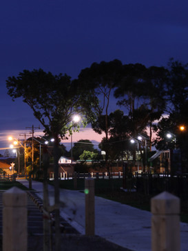 Iluminaçao solar para estacionamentos
