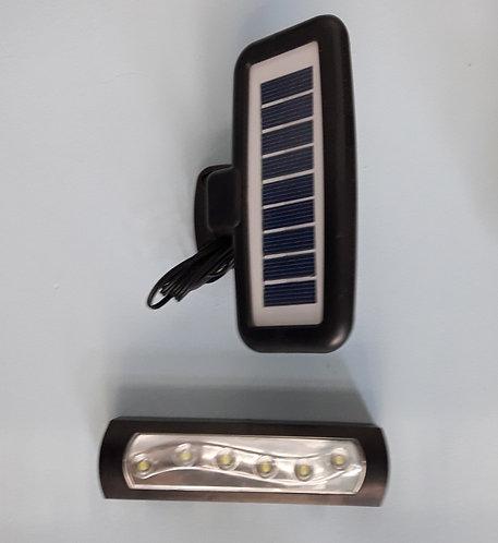 Luz solar de emergência, com painel