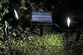 Adornos de jardin a energia solar