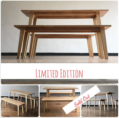 S COOPER Dining Table & Benches