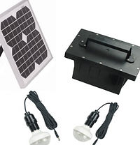 Kit iluminacion solar 2 lamparas led de 48 led