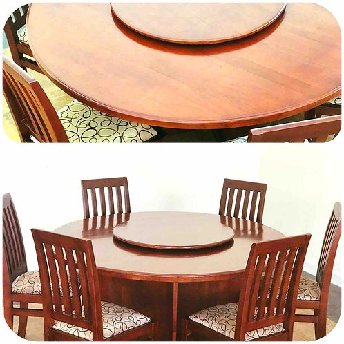 LAZY SUZAN Table & 6 Chairs