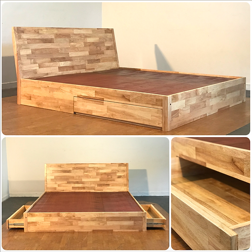 "2 Drawer King Bed  - 78"" x 72"""