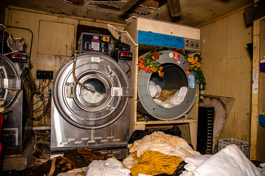 They left with the laundry still in the machines.