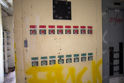 Controls for the on-field lights.