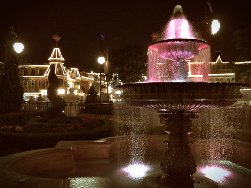 Fountain in front of Main Street USA Walt Disney World