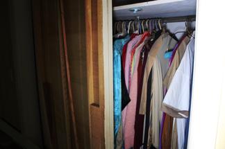 Clothes still hanging