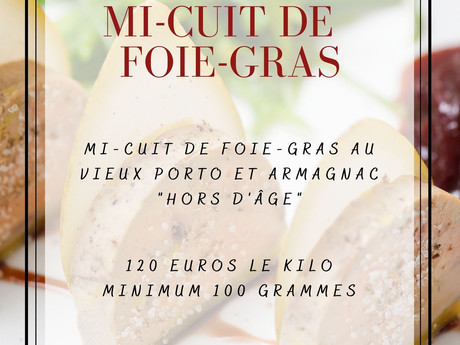 Vente mi-cuit de foie-gras