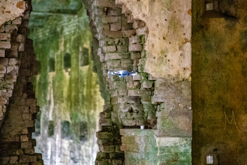 Now that the fireplaces have crumbled, you can see all the way through the citadel.
