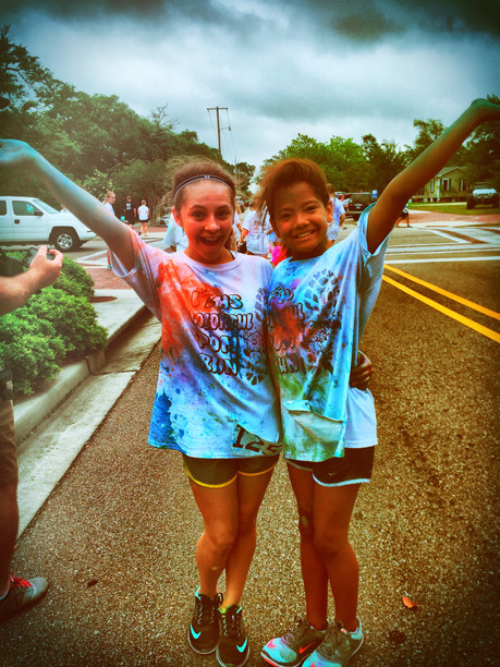 LBHS Cheerleaders Color Run