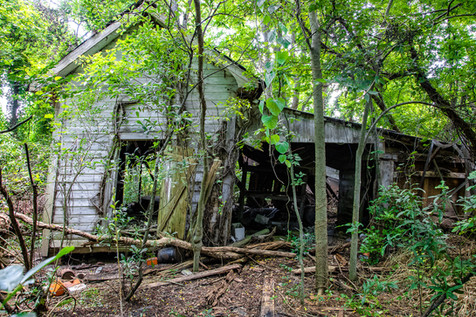 The old garage out back.