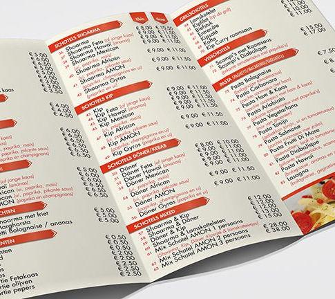 drie luik menu ontwerp
