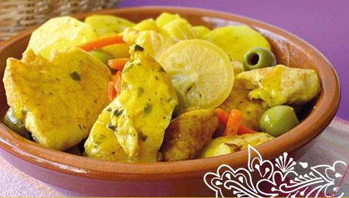 Tajine de Poulet, Citron & Olives