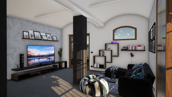 Modellazione 3D e Render di interni per un casolare di campagna in ristrutturazione.
