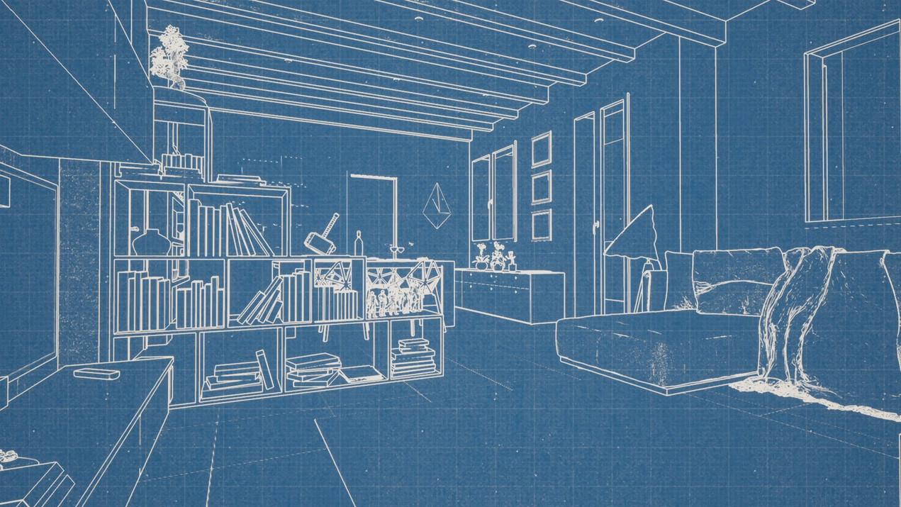 Video di progettazione di interni. Dallo studio di fattibilità, attraverso la modellazione volumetrica fino al rendering finale.