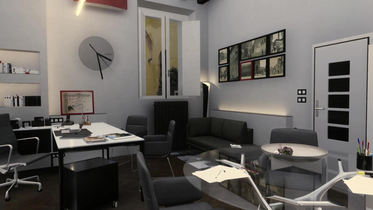 Video Render per progetto di ristrutturazione e arredo ufficio