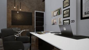 Modellazione 3D e Render d'interni. Ristrutturazione e arredo per studio/ufficio in centro a Bologna