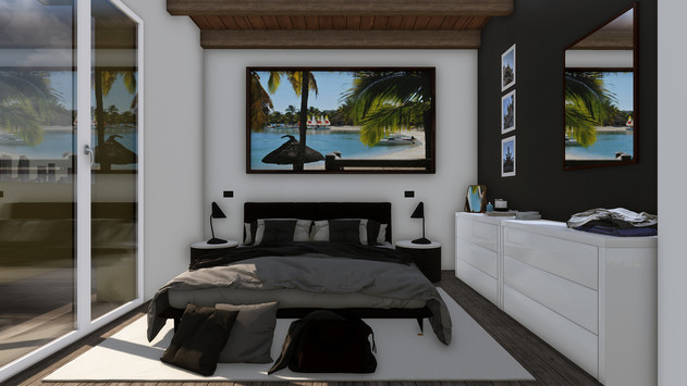 Modellazione 3D e Render d'interni. Camera da letto.