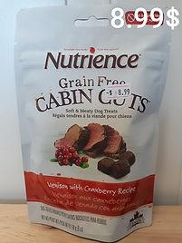 Nutrience cabin cuts venison cranberry .