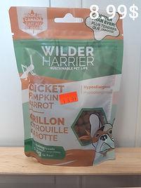 Wilder Harrier grillon citrouille carott