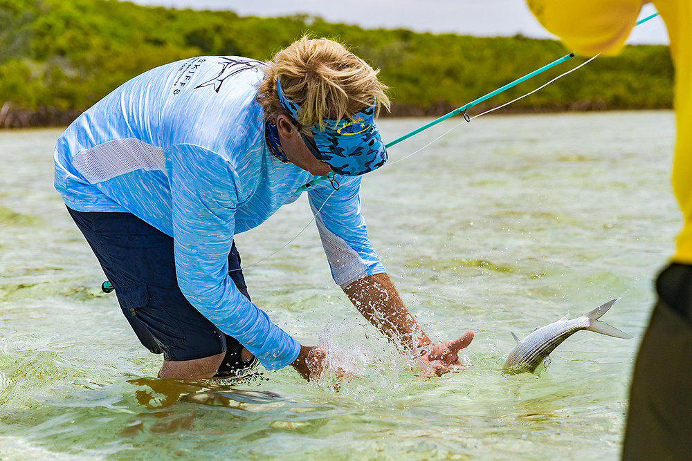 Capt Blair Wiggins Bahama Bonefish Fumble