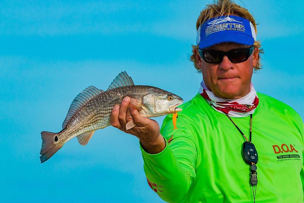 Capt Blair Wiggins with Texas redfish
