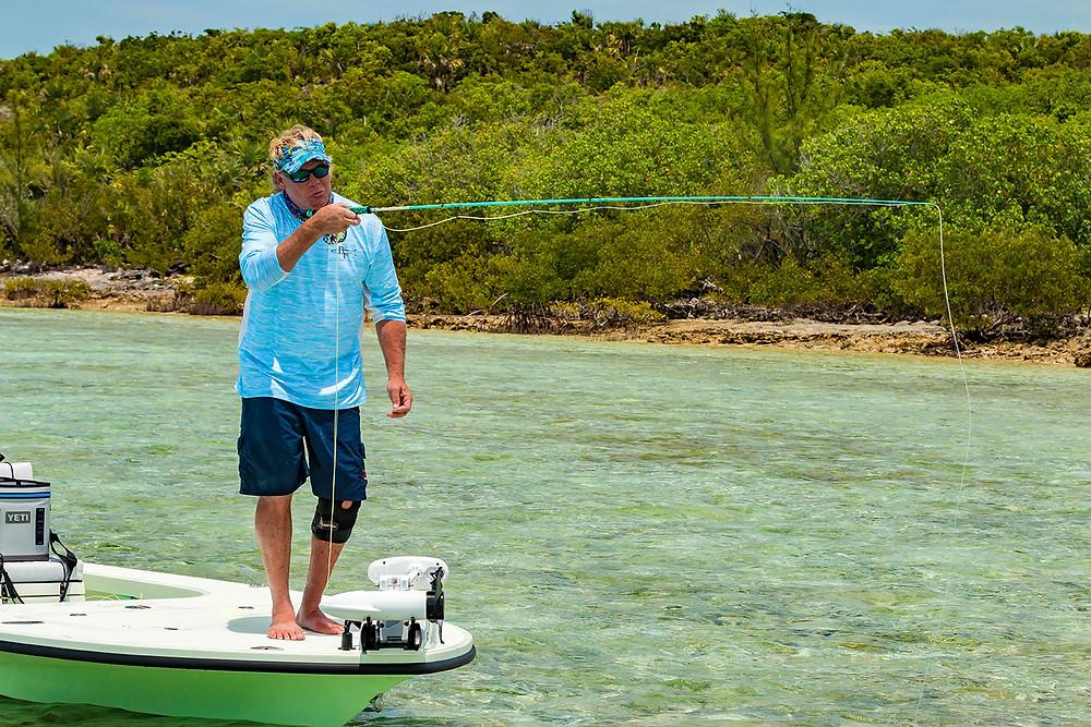 Capt Blair Wiggins Fly Fishing for Bahama Bonefish