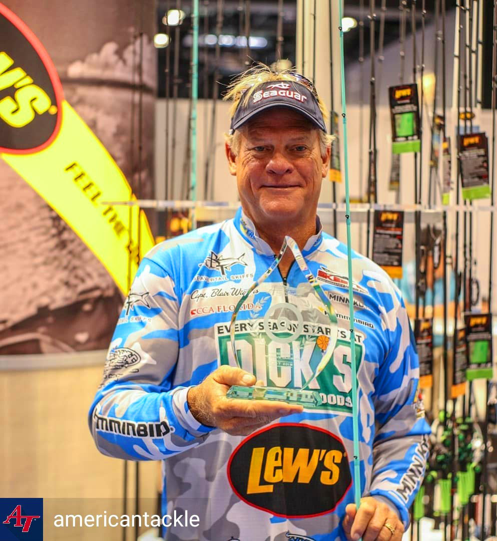 Blair Wiggins with ICAST Best In Show Award
