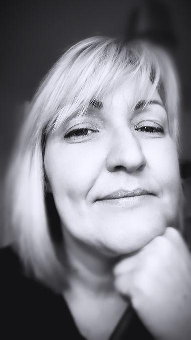 head shot in black and white of Carolann Smith